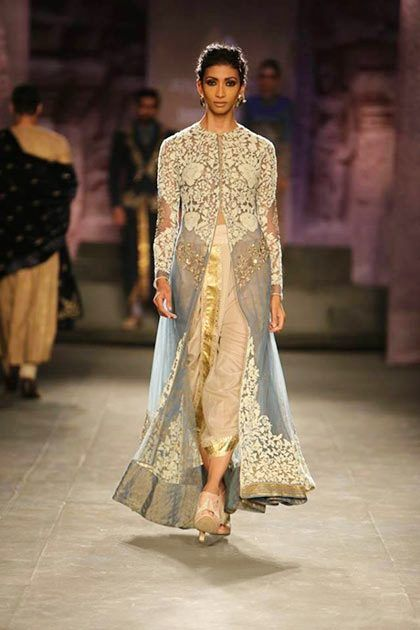 Anju Modi dhoti pants with embroidered kurta---- dont know about the dhoti but the kurta is gorgeous!!!!
