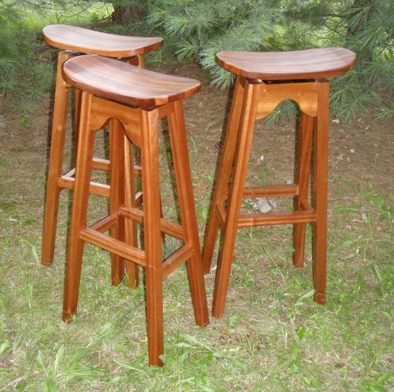 Outdoor stools in Mahogany by CustomFurnCreations on Etsy, $200.00