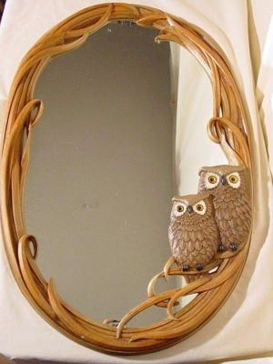 Owl mirror Pinned by www.myowlbarn.com