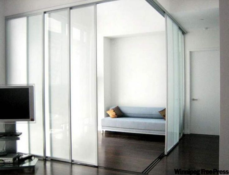 Home office doors. Sliding Door Company- Using frosted glass doors ides a large space without blocking light from the windows. & Best 20+ Movable walls ideas on Pinterest | Movable partition ... Pezcame.Com