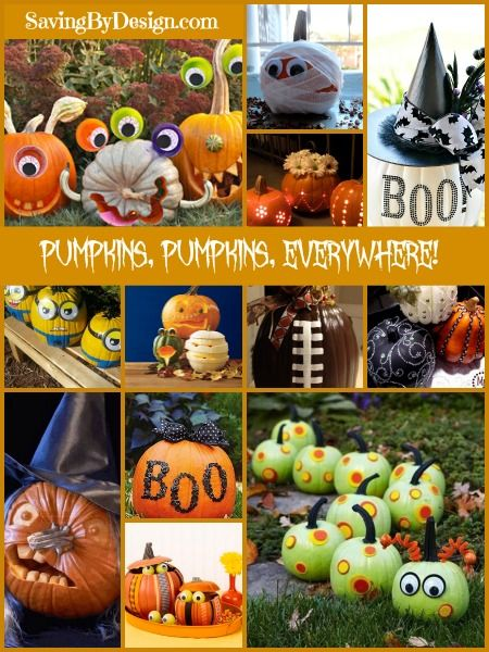 It's almost pumpkin time!! What will you be creating with yours this year? Carving, painting, bedazzling, and more...you'll find all kinds of inspiration here! | SavingByDesign.com