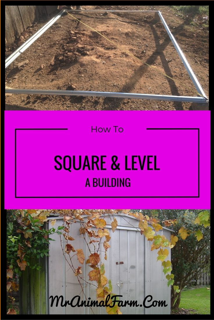 29464 best homesteading images on pinterest homestead for How to square a building foundation