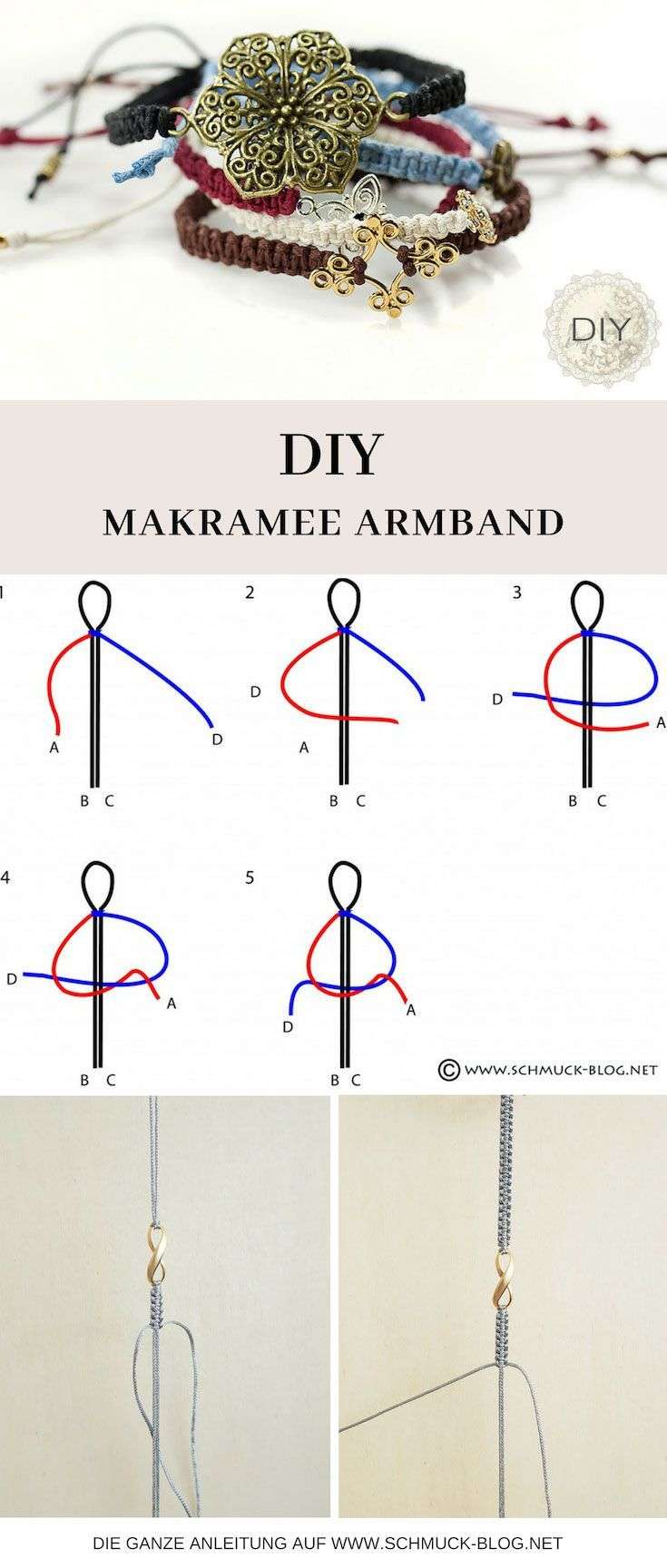 Make macrame bracelets – Simple instructions