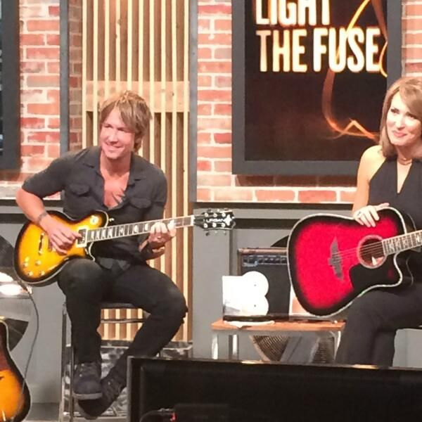 """Keith Urban on HSN selling his """"Light The Fuse"""" guitars"""