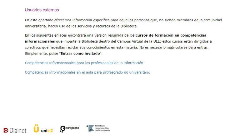 RECURSOS PARA USUARIOS EXTERNOS (http://www.ull.es/view/institucional/bbtk/Externos/es) https://www.pinterest.com/bibliotecanutic/