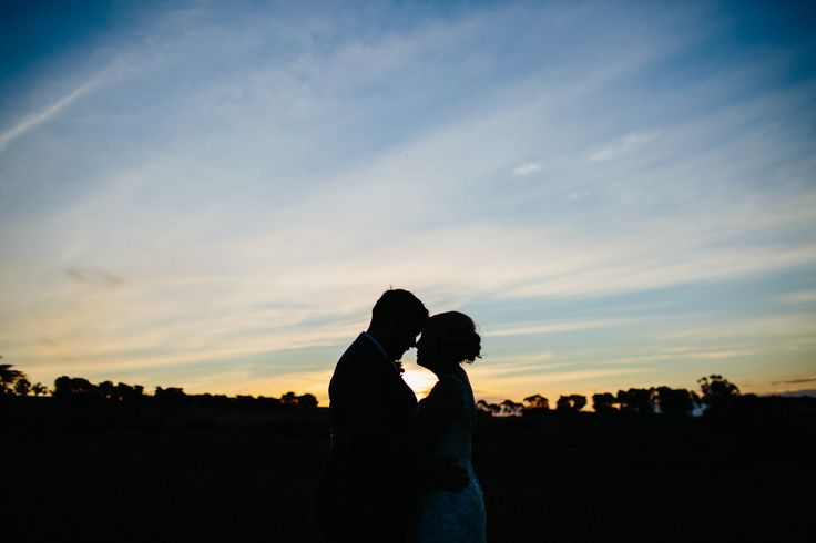 Sunset Silhouette | Farm Wedding | Country Wedding