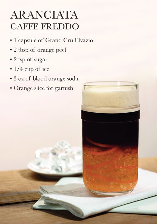 The light and vibrant notes of this refreshing Aranciata Caffe Freddo iced coffee recipe make it a perfect complement to a warm spring day. Find out how to make this Nespresso creation for yourself.