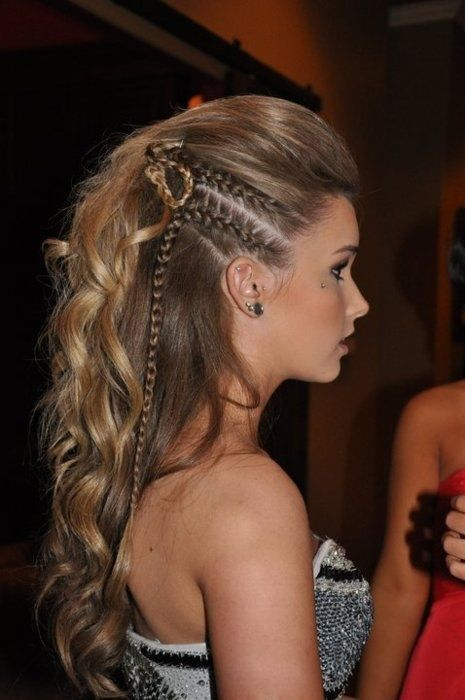 love braided faux hawks, except I'd do three braids and stop them when I stopped French braiding.