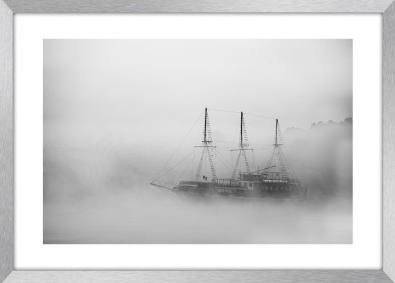 GHOST SHIP  Fine art seascape photography mist by KBphotostudio