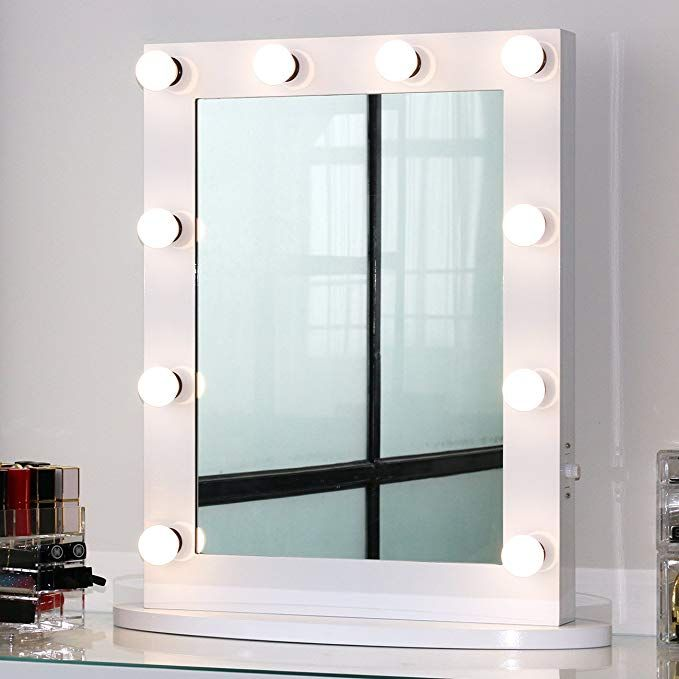 Toyswill Hollywood Style Vanity Mirror 2 Outlets Tabletop Wall