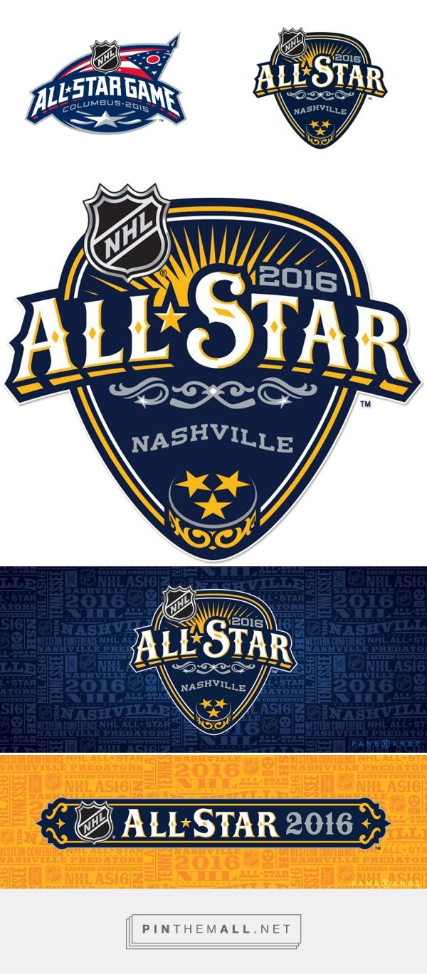 Brand New: New Logo for 2016 NHL All-Star Game by Fanbrandz - created via http://pinthemall.net
