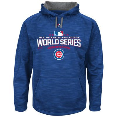 Majestic Chicago Cubs Royal 2016 World Series Bound Authentic Collection On-Field Participant Streak Fleece Pullover Hoodie