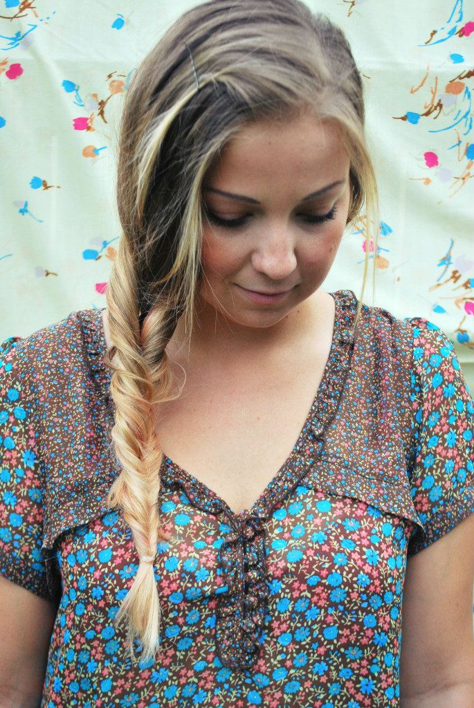 The brilliant braid. Looks like a fishtail braid, but takes less than a minute to do.