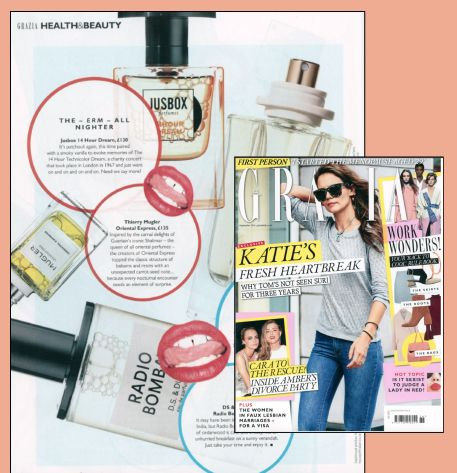 14 Hour Dream by Jusbox Perfumes as seen in Grazia UK!