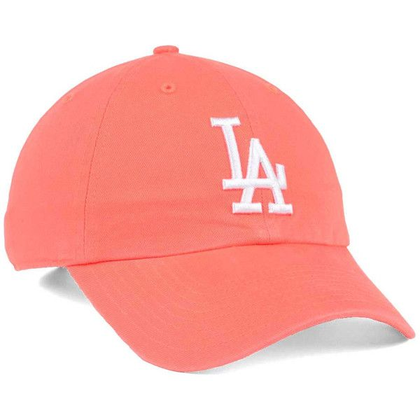 Los Angeles Dodgers '47 MLB Grapefruit '47 CLEAN UP Cap ❤ liked on Polyvore featuring accessories, hats, dodgers baseball hat, los angeles dodgers hats, mlb caps, baseball cap hats and cotton baseball cap