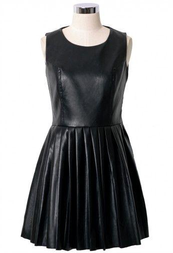 Lil black leather dress