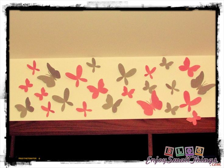 Hand made wall stickers from paper butterflies - 3D - Do it Yourself