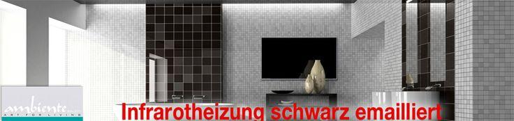 Verbinden Sie das Schöne mit dem Nützlichen! Infrarotheizungen spenden nicht nur wohltuende Wärme, sondern werden durch die schlanke Bauweise und die ansprechende Optik zum Einrichtungs- und Gestaltungselement im Wohnbereich, Schlafräumen, oder im Badezimmer, wie z.B. hier die Infrarotheizung Standard schwarz emailliert.