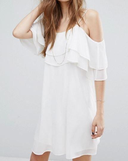 Vero Moda Ruffle Tier Detail Dress