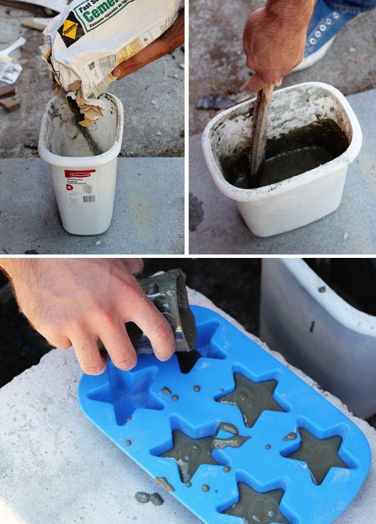 Concrete magnets.