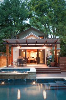 pool and covered deck - contemporary - exterior - other metro - by CG Design-Build
