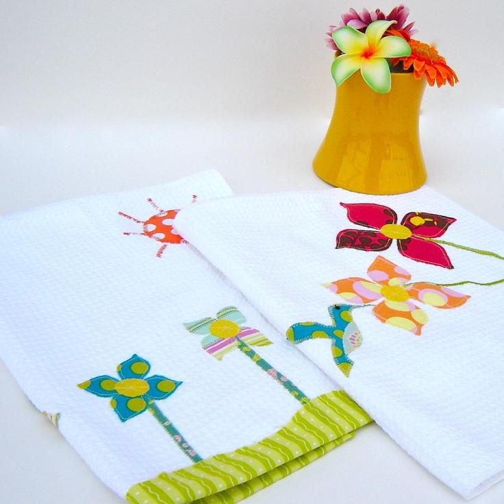 Flower Garden Kitchen Towels Set Of 2