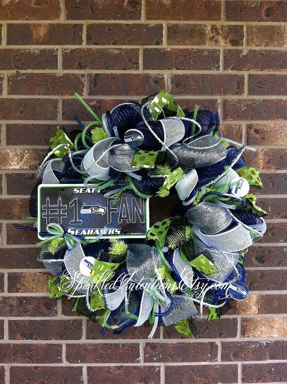 Hey, I found this really awesome Etsy listing at https://www.etsy.com/listing/193837289/seattle-seahawks-deco-mesh-wreath