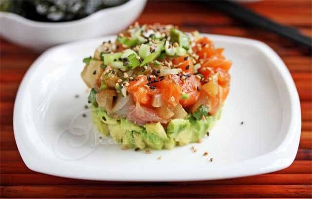 22 best images about stunningly stacked on pinterest for Fish me poke menu