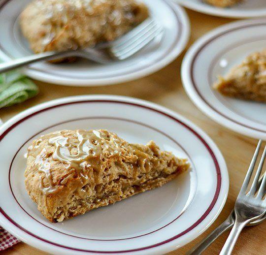 Banana Bread Scones with Brown Sugar Glaze: Breads Scones, Brown Sugar ...