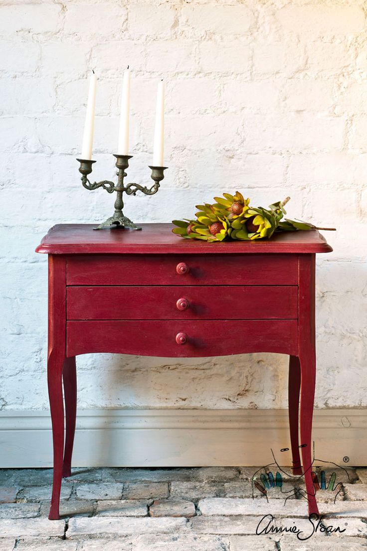 Burgundy A rich deep warm red the colour of dark cherries, Burgundy finds its early inspiration in Pompeii. It also has a strong a strong neoclassical heritage, making it perfect for sophisticated painted furniture. *Please note this colour is currently only available in the UK, Europe, North America, and South Africa. Coming soon in other territories.