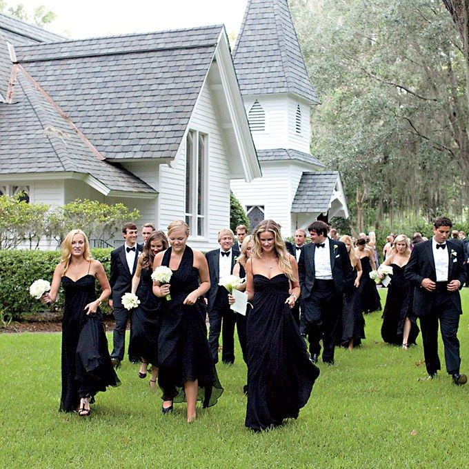 Are Black Bridesmaid Dresses Appropriate for a Summer Wedding?