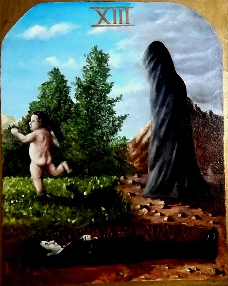 La gran carta de la Muerte, pintura realizada para un tarot diseñado por el autor