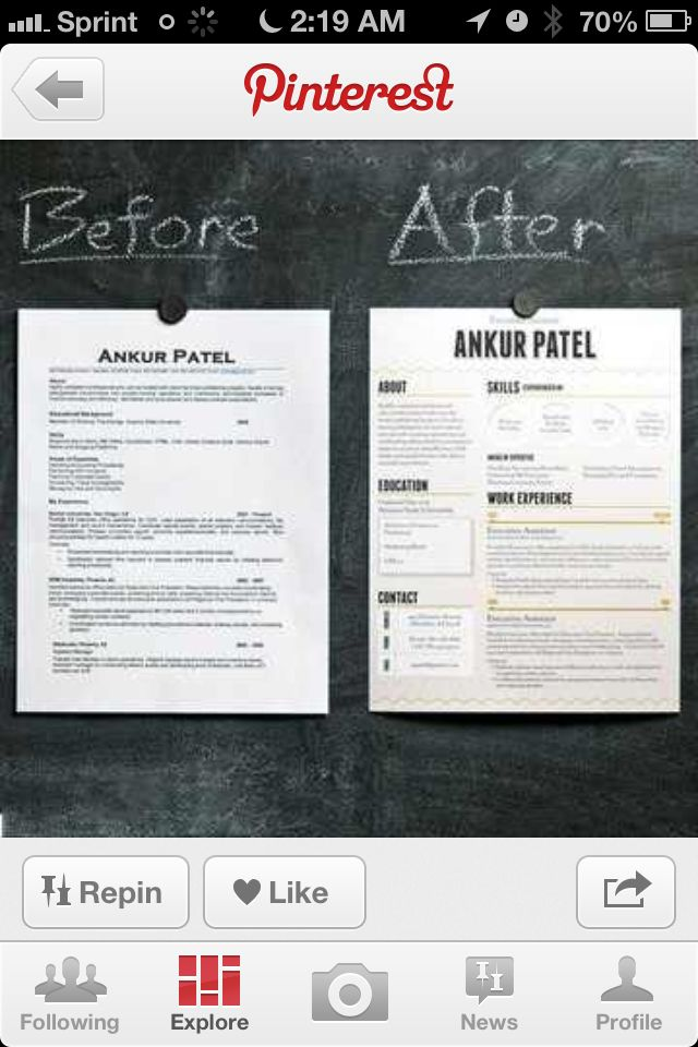 59 best resume images on pinterest resume ideas resume