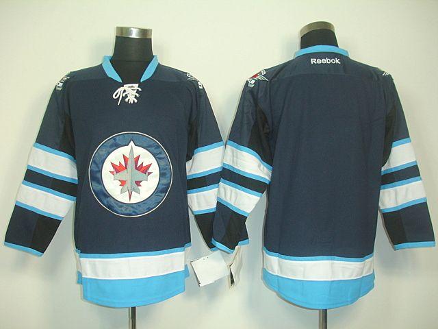 ... white circle Winnipeg Jets BLANK Home Jersey Cheap Mens Winnipeg Hockey  Jerseys 44 Zach Bogosian ... 5429264a7