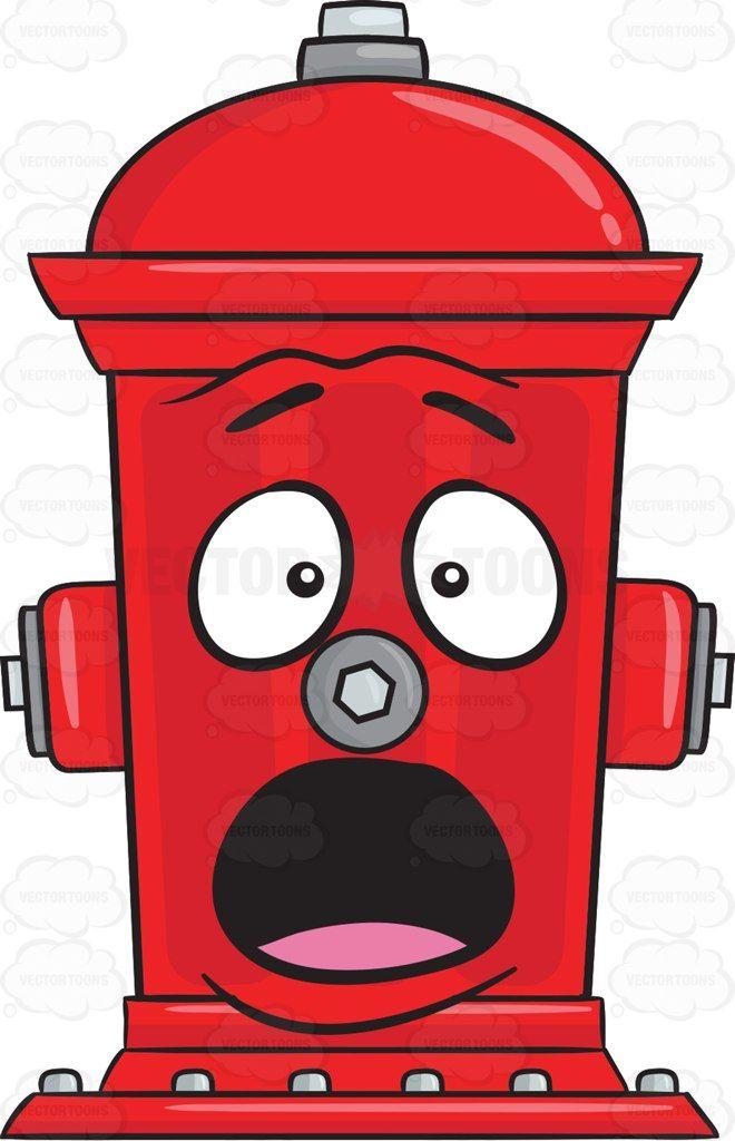 Shocked Fire Hydrant Emoji Cartoon - 78.2KB
