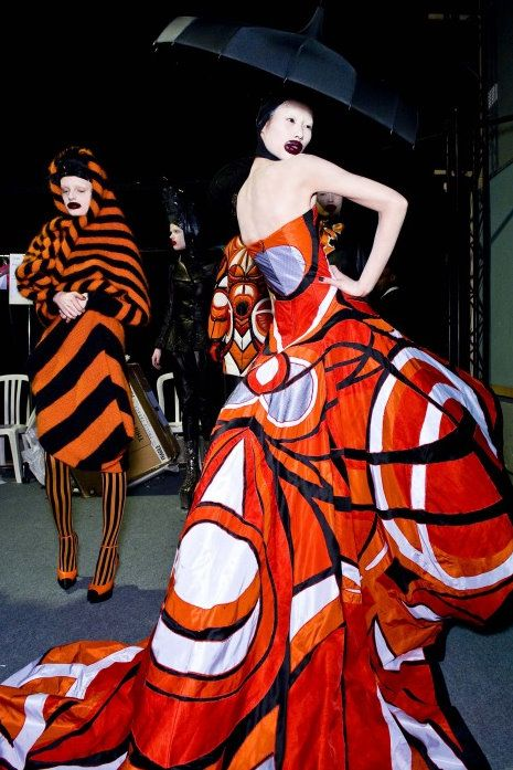 Alexander McQueen 2010 RTW backstage at Paris Fashion Week