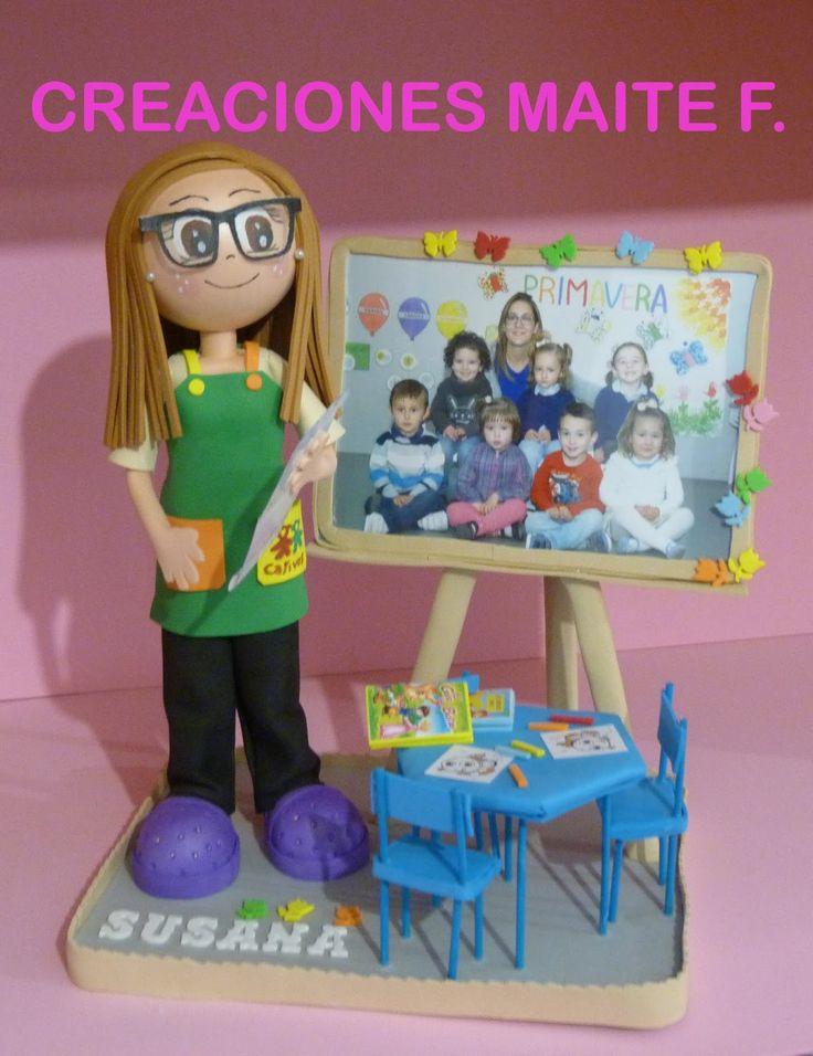 Fofucha profesora de Guardería Personalizada Susana.   Un bonito detalle que le han querido regalar sus alumnos que la tienen mucho cariño....