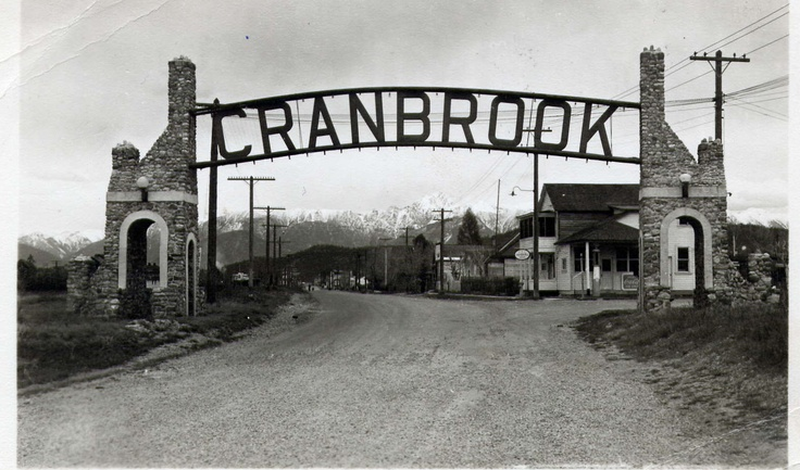 Cranbrook BC, I remember driving under this sign at the South end of the city.
