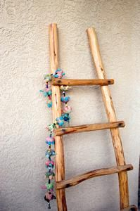 A kiva ladder adds interest to Southwest home decor.