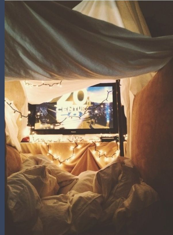 Cute for a date night! build a tent and watch movies with lots of candy&pop corn:) must do this!!