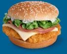 Great for a frozen dinner night.  Tyson chicken patties with ham and swiss to make a Cordon Bleu. Everybody liked.