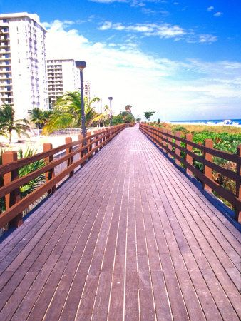 Boardwalk, South Beach, Miami, Florida, USA Walked on this boardwalk like 5 times in the 3 days that we were there