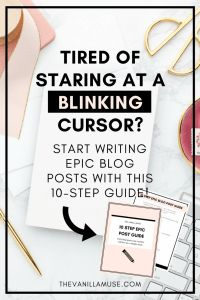 Are you tired of staring at your computer screen trying to figure out how to get your thoughts into a post that not only makes sense but connects with your readers as well? This guide walks you through 10 steps to not only writing a blog post, but writing an EPIC blog post, one your readers will remember and that will help you make money from your blog.
