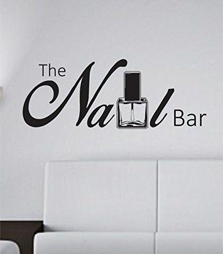 The Nail Bar Nail Tech Store Business Logo Version 101 Decal Sticker Wall