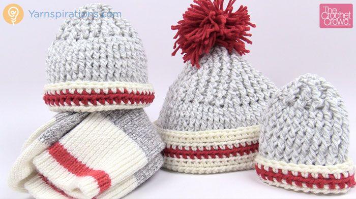 Sock Inspired Crochet Hat Patterns
