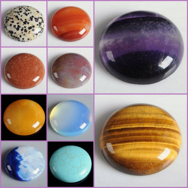 Wholesale 30mm Round cabochon CAB flatback semi-precious gemstone Save $ in bulk