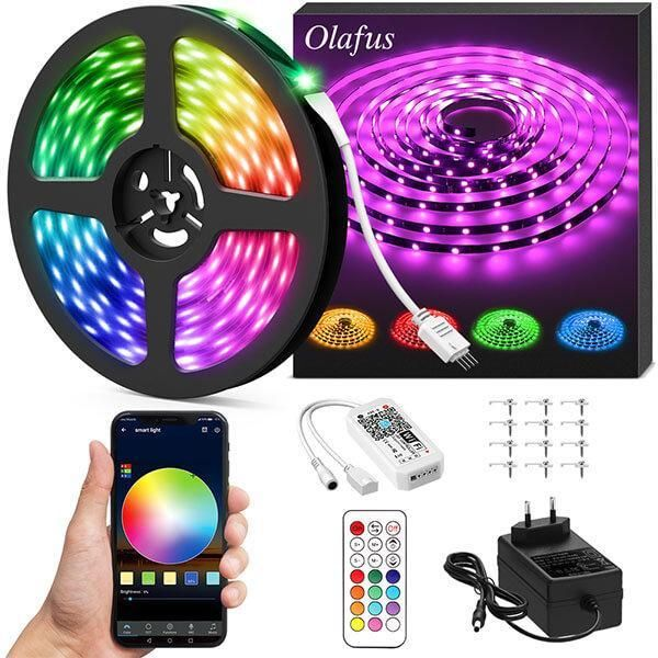 32 8ft Rgb Led Strip Light Kit Smart Wifi App Control Music Light Tape Compatible With Alexa Google Assistant Us Plug In 2020 Led Strip Lighting Led Light Strips Rgb Led Strip Lights