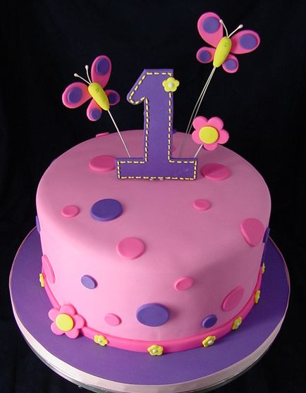 Cake Design For One Year Birthday : Best 25+ Girls first birthday cake ideas on Pinterest ...