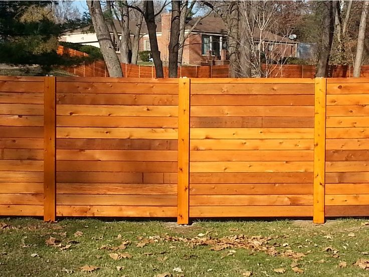 Getting Horizontal Wood Fence for Your House,Horizontal Wood Fence ...