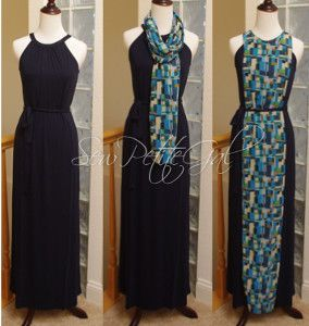 Scarf Maxi Dress Makeover | AllFreeSewing.com